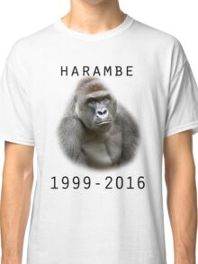 R.I.P Harambe (Black) Classic T-Shirt