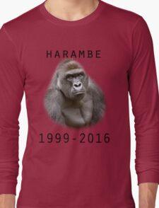 R.I.P Harambe (Black) Long Sleeve T-Shirt
