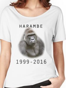 R.I.P Harambe (Black) Women's Relaxed Fit T-Shirt