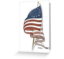 United States 1776 flag Greeting Card