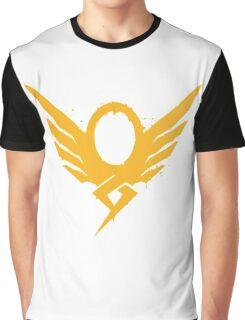 Hero's Never Die! - Mercy's Graffiti Logo Graphic T-Shirt