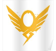 Hero's Never Die! - Mercy's Graffiti Logo Poster