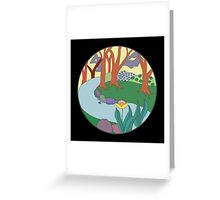 Forest Circle at Dusk Greeting Card
