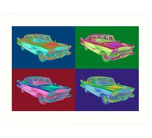 1958 Plymouth Savoy Classic Car Pop Art Art Print