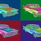 1958 Plymouth Savoy Classic Car Pop Art by KWJphotoart