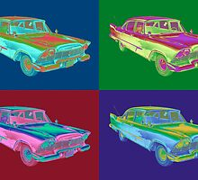 1958 Plymouth Savoy Classic Car Pop Art by KWJphotoart