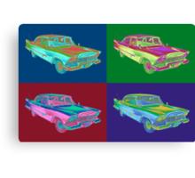 1958 Plymouth Savoy Classic Car Pop Art Canvas Print