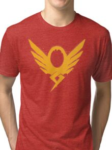 Hero's Never Die! - Mercy's Graffiti Logo Tri-blend T-Shirt