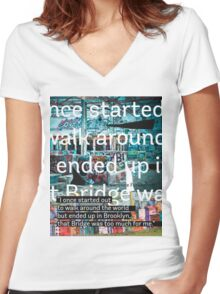 Adventure NY Women's Fitted V-Neck T-Shirt