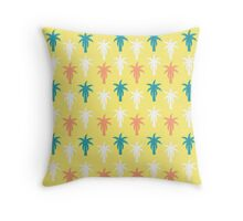 Palm trees in yellow Throw Pillow