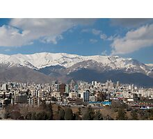 Tehran Mountain View Photographic Print