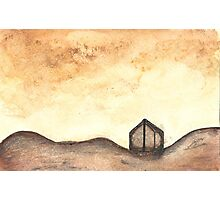 Sunset Shed Photographic Print