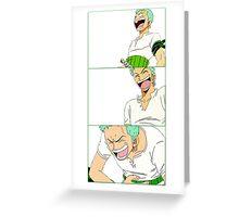 Laughing Zoro Greeting Card