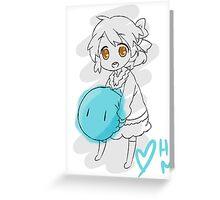 Clannad: Ushio With Dango Greeting Card