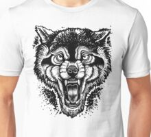 Neotraditional Inked Wolf Unisex T-Shirt