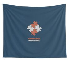 Teamwork Makes The Dreamwork - Corporate Start-Up Quotes Wall Tapestry