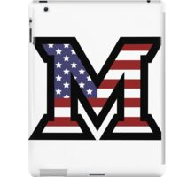 Miami University 'M' American Flag  iPad Case/Skin