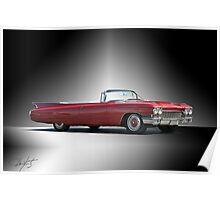 1960 Cadillac DeVille Convertible 'Studio' Poster
