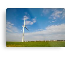 Wind turbines create clean and renewable electricity  Metal Print