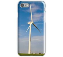 Wind turbines create clean and renewable electricity  iPhone Case/Skin