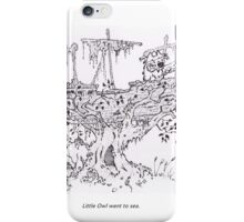Little Owl Went To Sea iPhone Case/Skin
