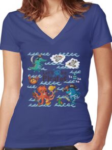 Let's be Pirates! Women's Fitted V-Neck T-Shirt