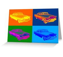 1956 Sedan Deville Cadillac Luxury Car Pop Art Greeting Card