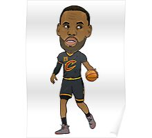 Lebron James Cartoon Bubble Head Poster