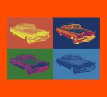 1956 Sedan Deville Cadillac Luxury Car Pop Art Kids Tee