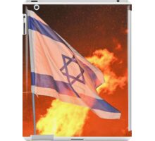 Israeli flag at a Lag Baomer a bonfire iPad Case/Skin