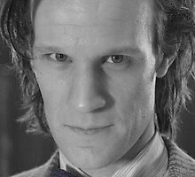 Eleventh Doctor's Bow Tie Black and White by Themaninthefez