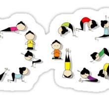 Yoga practice, concept Sticker