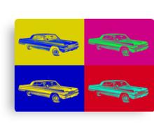 1964 Chevrolet Impala Muscle Car Pop Art Canvas Print