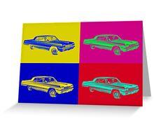 1964 Chevrolet Impala Muscle Car Pop Art Greeting Card