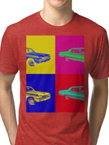 1964 Chevrolet Impala Muscle Car Pop Art Tri-blend T-Shirt