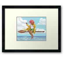 Text and Fly 2 Framed Print