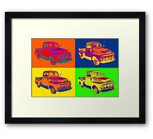 1951 ford F-1 Pickup Truck Pop Art Framed Print