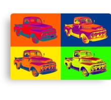 1951 ford F-1 Pickup Truck Pop Art Canvas Print