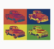 1951 ford F-1 Pickup Truck Pop Art Kids Clothes