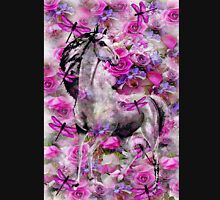 WHITE HORSE AND ROSES Unisex T-Shirt