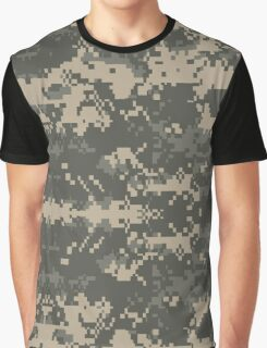 Army Pixel Camo Pattern Graphic T-Shirt