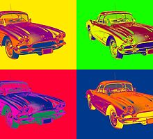 1962 Chevrolet Corvette Pop Art by KWJphotoart