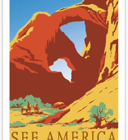 See America - Vintage Travel Poster Sticker