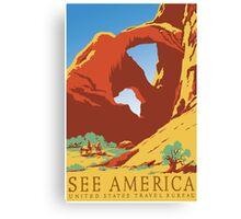 See America - Vintage Travel Poster Canvas Print