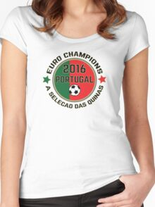 Portugal Euro 2016 Champions T-Shirts etc. ID-7 Women's Fitted Scoop T-Shirt