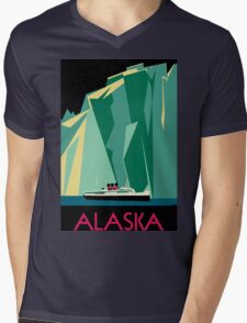 Alaska - Vintage Travel Poster Mens V-Neck T-Shirt