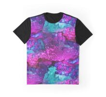 Melting in Purple Alcohol Ink Graphic T-Shirt