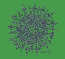 Heart Centred Mandala - purple print One Piece - Short Sleeve