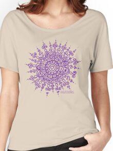 Heart Centred Mandala - purple print Women's Relaxed Fit T-Shirt