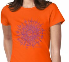 Heart Centred Mandala - purple print Womens Fitted T-Shirt